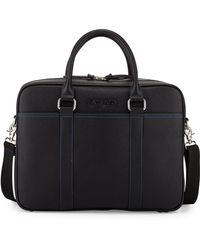 Robert Graham Moore Leather Zip-Top Messenger Bag - Lyst