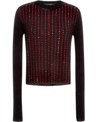 Anthony Vaccarello | Army Sweater with Swarovski Elements | Lyst