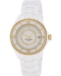 Kate Spade Ladies Seaport Grand Watch with Crystal Detail - Lyst