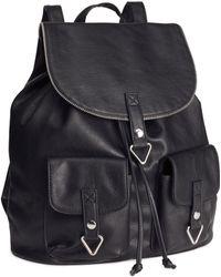 H&M - Imitation Leather Rucksack - Lyst