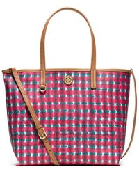 Tory Burch Kerrington Mini Square Tote - Lyst