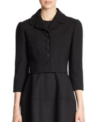 Dolce & Gabbana Cropped Crepe Jacket - Lyst