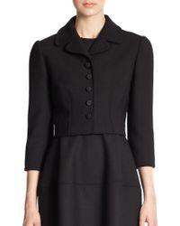 Dolce & Gabbana Cropped Crepe Jacket - Lyst
