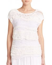 DKNY Hand-Knit Sweater white - Lyst