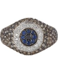 Ileana Makri Multi Gemstone White Gold Havana Eye Ring - Lyst