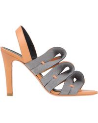 Balenciaga Gray Sandals - Lyst