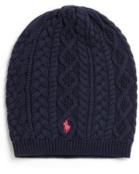 Ralph Lauren Girls Cable-knit Hat - Lyst
