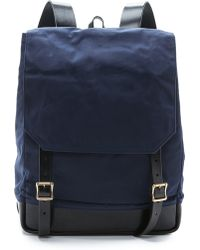 Southern Field Industries - Waxed Canvas Rucksack - Lyst