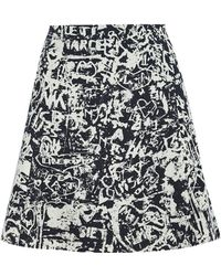 Carven Lovers On The Seine Printed Wool Skirt - Lyst