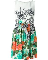 Isola Marras Butterfly And Flower Print Dress - Lyst