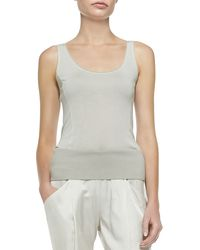 Donna Karan New York Scoop-Neck Tank Tunic - Lyst