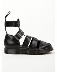 Dr. Martens Men'S Black Geraldo Ankle Strap Sandals Men'S Black Geraldo Ankle Strap Sandals - Lyst