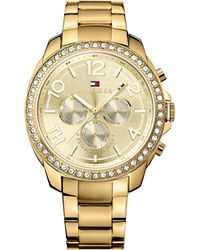 Tommy Hilfiger Womens Gold Ion-plated Stainless Steel Bracelet Watch 42mm - Lyst