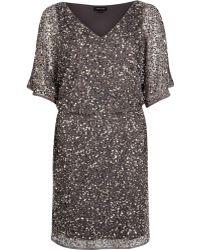 River Island Dark Grey Sequin Embellished Dress - Lyst