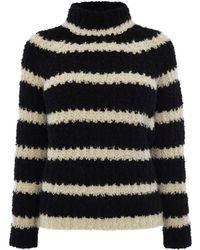 Karen Millen | Boucle Stripe Sweater | Lyst