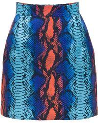 House of Holland Snake Mini Skirt blue - Lyst