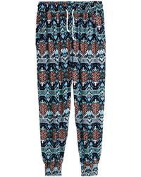 H&M Patterned Joggers - Lyst