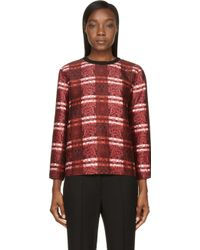 Mother Of Pearl Red Floral Dover Sweatshirt - Lyst