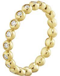 Georg Jensen - Aurora 18ct Yellow-gold And Diamond Ring - Lyst