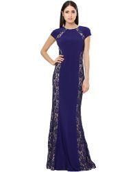 Js Boutique Jersey Lace Inset Gown - Lyst