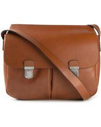 52a4ab2d30 Giorgio Armani - Buckled Messenger Bag - Lyst