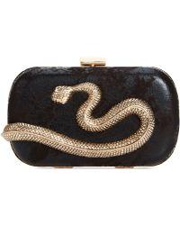 La Regale Snake Minaudiere - Lyst