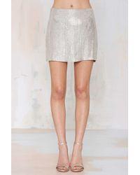 Nasty Gal Mlv Whitney Metallic Beaded Skirt - Lyst