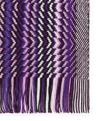 Missoni Contrast Zig Zag Knit Scarf - Lyst