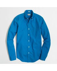 J.Crew Factory Slim Washed Shirt in Endonend - Lyst