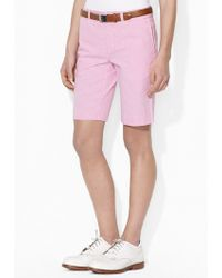 Ralph Lauren Golf Pink Seersucker Short - Lyst