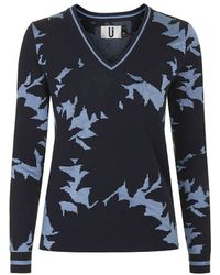 Topshop Abstract Knit V-Neck Jumper By Unique - Lyst