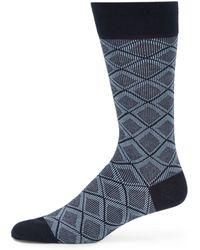 Saks Fifth Avenue Black Label - Modern Harlequin Socks - Lyst