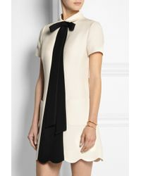 Valentino Bowembellished Woolblend Crepe Mini Dress - Lyst