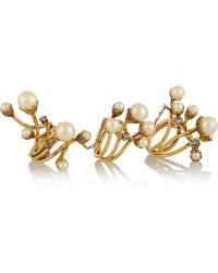 Erickson Beamon Stratosphere Gold-Plated Faux Pearl and Swarovski Crystal Ring - Lyst