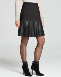 Elie Tahari Becky Leather Panel Skirt - Lyst