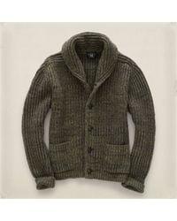 RRL Brown Shawl-collar Cardigan - Lyst