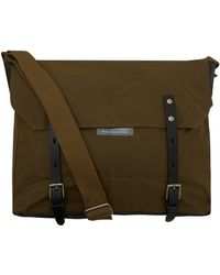 Ally Capellino Olive Jeremy Waxed Cotton Messenger Bag - Lyst