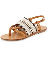 See By Chloé Keena Leather Thong Sandal - Lyst
