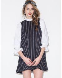 Pixie Market Ella Striped Babydoll Dress - Lyst