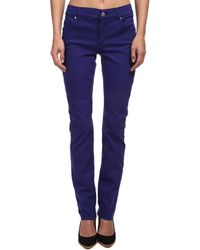 Versace Jeans Jeans with Back Pocket Embellishment in Purple - Lyst