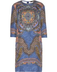 Etro Printed Jacquard Cotton and Silk Blend Dress - Lyst