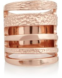Pamela Love Single Cage Rose Goldplated Ring - Lyst