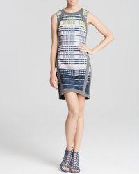 Charlie Jade Dress Plaid Print Asymmetric - Lyst