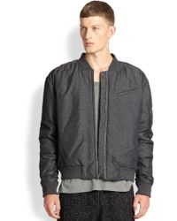 T By Alexander Wang Nylon Bomber Jacket - Lyst