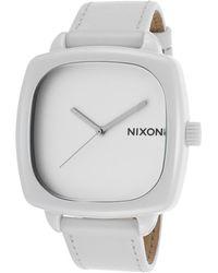 Nixon Women'S Ceramic Shutter White Genuine Leather And Dial white - Lyst