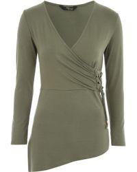 Jane Norman | D-ring Asymmetric Wrap Jersey | Lyst