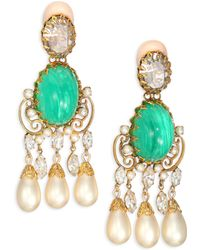 House of Lavande | 1960s Vintage Schreienr Faux Pearl Clip-on Chandelier Earrings | Lyst