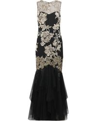 Notte By Marchesa Embroidered Gown with Tulle Overlay - Lyst