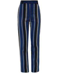 Proenza Schouler Striped Sponge Crepe Trousers - Lyst