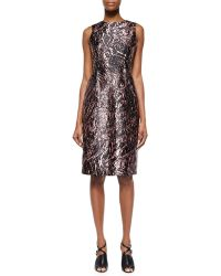 McQ by Alexander McQueen Marbled Open-Back Satin Dress - Lyst
